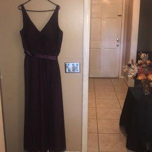 WTOO Bridal Bridesmaid Purple Floor Length Dress
